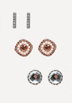 Glitzy Stud Earring Set