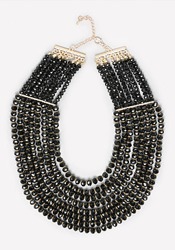 bebe Beaded Multi-Row Necklace