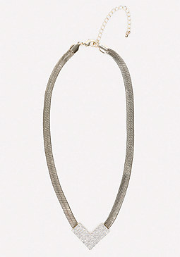 bebe Herringbone Chain Necklace