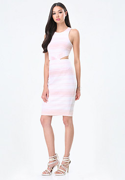 bebe Textured Jacquard Dress