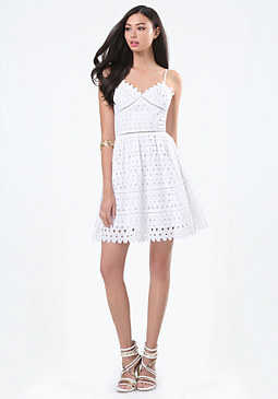 bebe Cotton Eyelet Dress