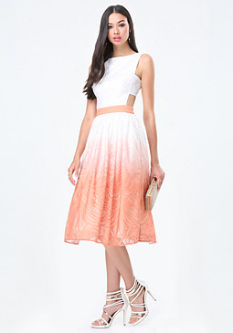 bebe Ombre Cutout Midi Dress