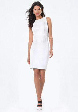 bebe Liz Cage Banded Dress