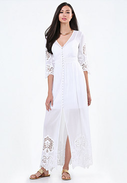bebe Camilla Lace Maxi Dress