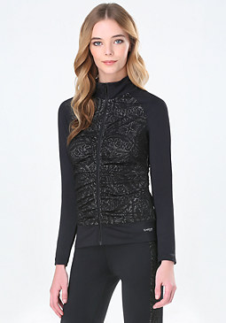 bebe Lace Space Dye Jacket