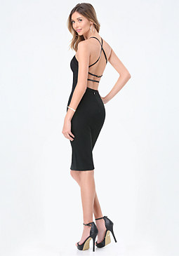 bebe Monika Strappy Back Dress