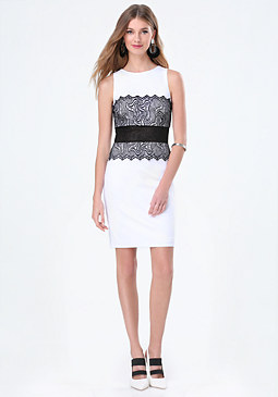 bebe Verona Lace Corset Dress