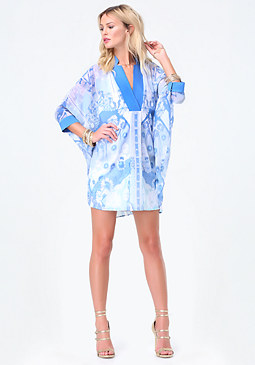 bebe Morgan Print Jacquard Dress