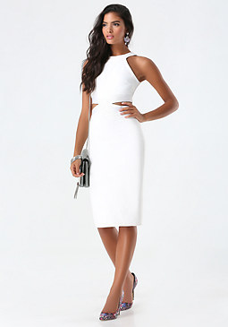 bebe Sleeveless Cutout Dress