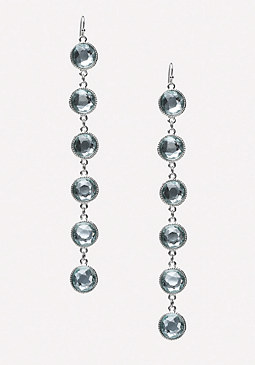bebe Blue Stone Duster Earrings