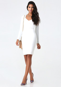 bebe Mila Inset Waist Dress