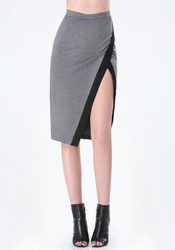bebe Heathered Colorblock Skirt