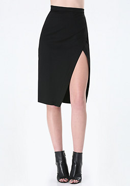bebe Ponte Colorblock Skirt