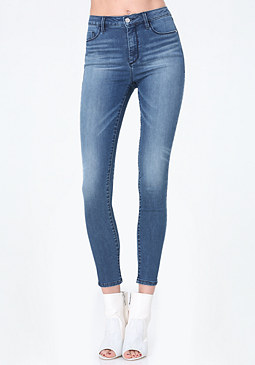 High Waist Skinny Jeans at bebe