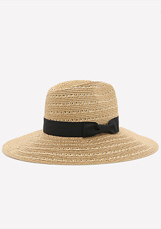 Metallic Weave Panama Hat