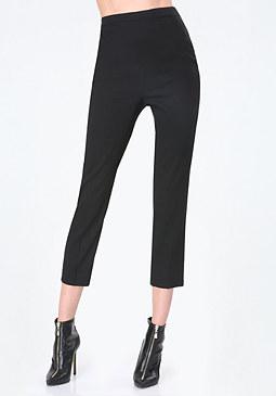 bebe Linen Crop Pants