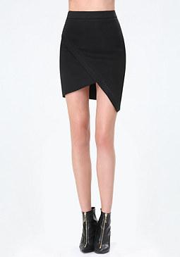 bebe Linen Asymmetric Skirt