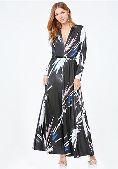 Petite Print Maxi Dress