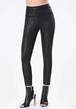 bebe Coated Ponte Leggings