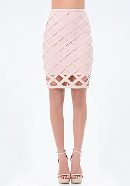 bebe Courtney Cage Bandage Skirt