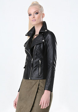 bebe Piped Moto Jacket