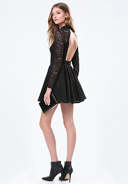 bebe Viviane Open Back Dress