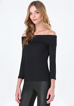 bebe Roxanne Off Shoulder Top