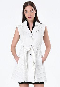 bebe Laya Fringe Detail Coat