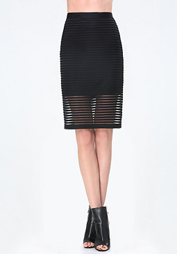 bebe Shadow Stripe Skirt