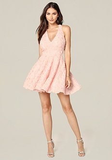 Rosette Sequin Dress