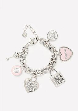 bebe Logo Charm Bracelet