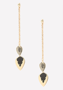 bebe Tribal Arrow Long Earrings