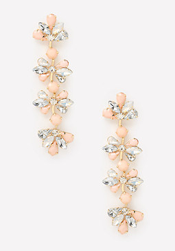 bebe Floral Linear Earrings