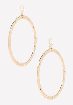 bebe Smooth Metal Hoop Earrings