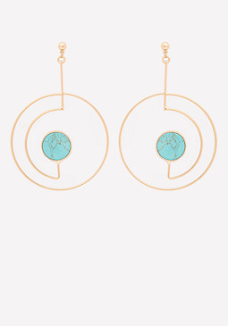 bebe Modern Cutout Hoop Earrings