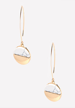 bebe Marbled Stone Earrings