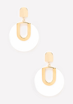 bebe Modern Lucite Earrings