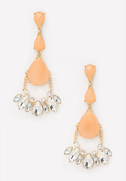 bebe Triple Teardrop Earrings