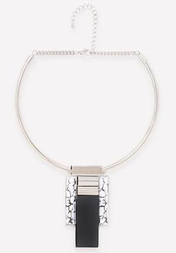 bebe Geo Pendant Collar Necklace