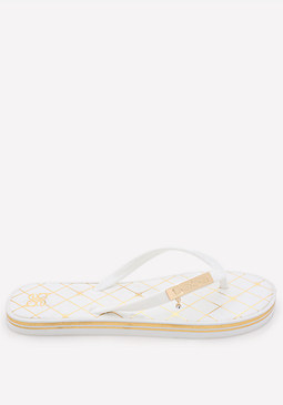 bebe Striped Low Flip Flops
