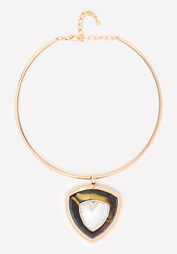 bebe Pendant Collar Necklace