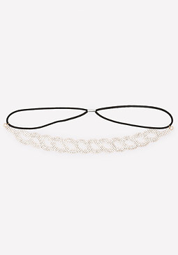 bebe Interlock Crystal Headband