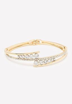 bebe Graduated Crystals Bracelet