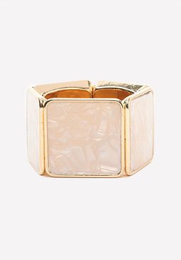 bebe Pearlescent Stretch Cuff