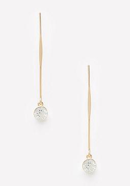 bebe Single Crystal Earrings