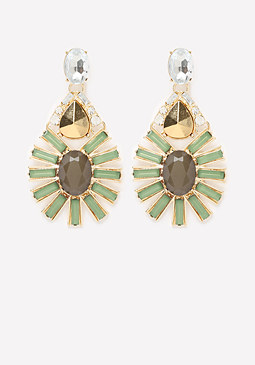 bebe Mega Teardrop Earrings