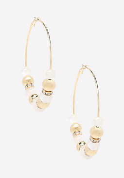 bebe Opalescent Hoop Earrings