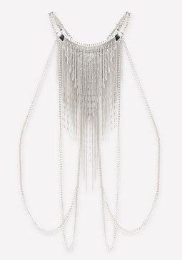 bebe Sparkly Fringe Body Chain