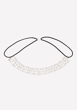 bebe Crystal Leaf Soft Headband