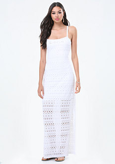 Logo Crochet Maxi Dress